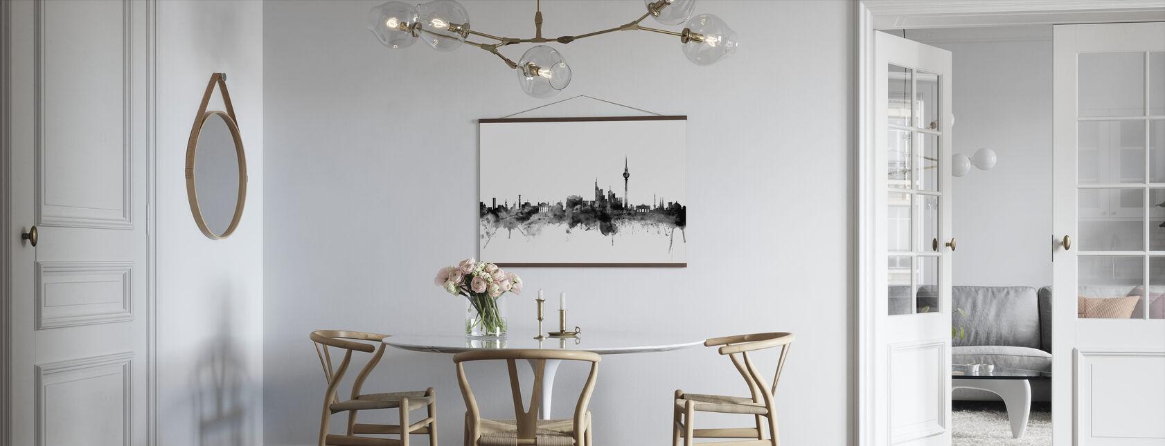 Berlin Skyline Musta - Juliste - Keittiö