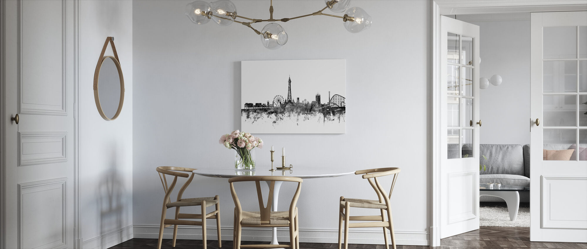 Blackpool UK Skyline Black - Canvas print - Kitchen