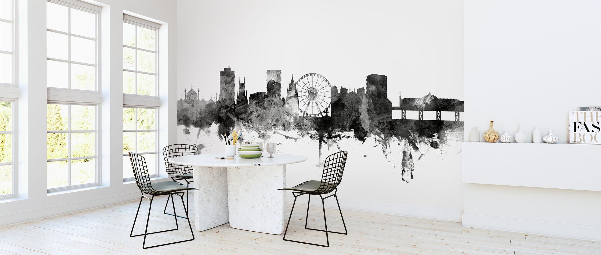 Brighton UK Skyline Black - Wallpaper - Kitchen