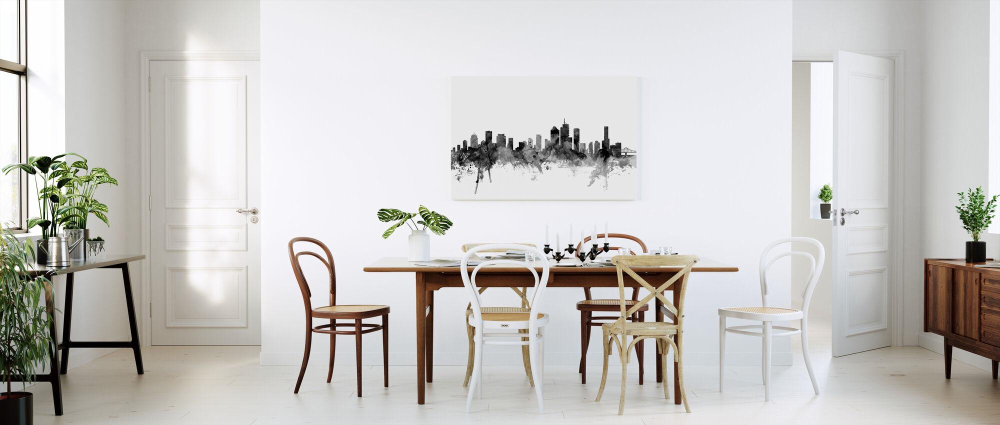 Brisbane Australia Skyline Zwart - Canvas print - Keuken