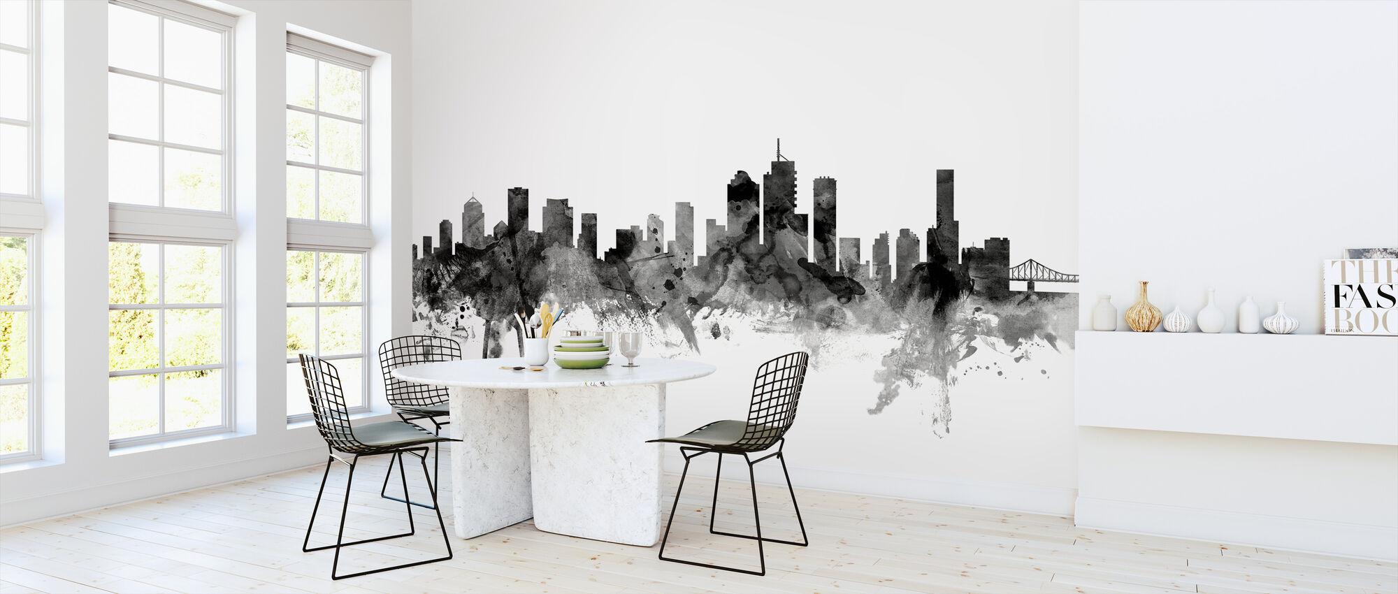 Brisbane Australia Skyline Black - Wallpaper - Kitchen