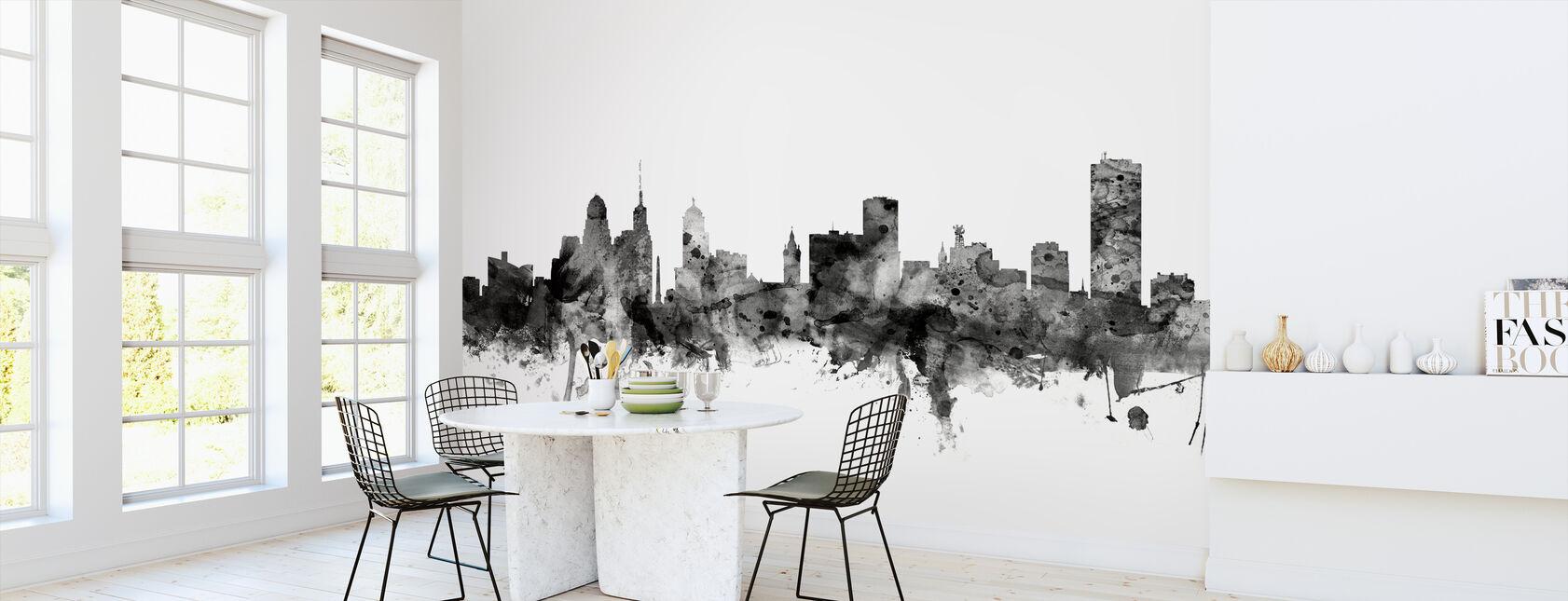 Buffalo New York Skyline Black - Wallpaper - Kitchen