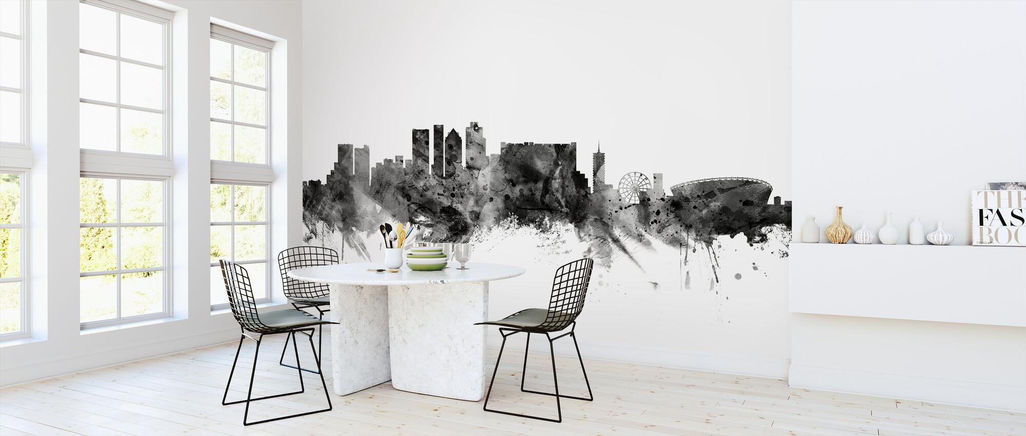 Kapstaden Sydafrika Skyline Sort - Tapet - Køkken
