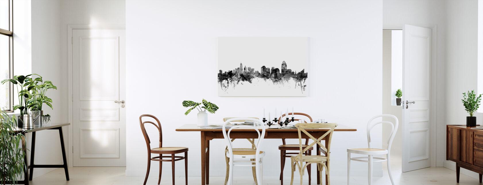 Cincinnati Ohio Skyline Zwart - Canvas print - Keuken