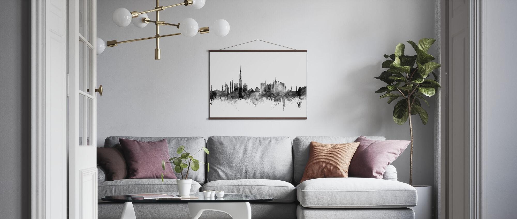 Dubai Skyline Zwart - Poster - Woonkamer