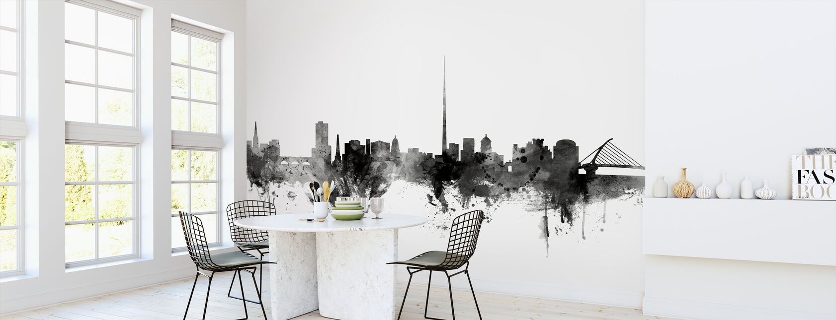 Dublin Ireland Skyline Black - Wallpaper - Kitchen