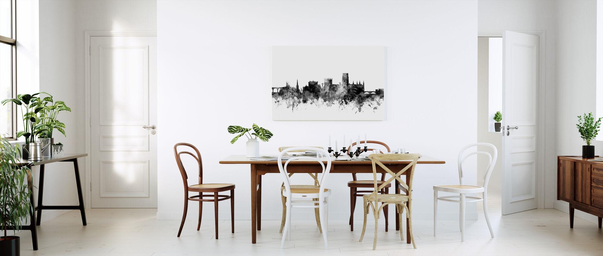 Durham UK Skyline Black - Canvas print - Kitchen