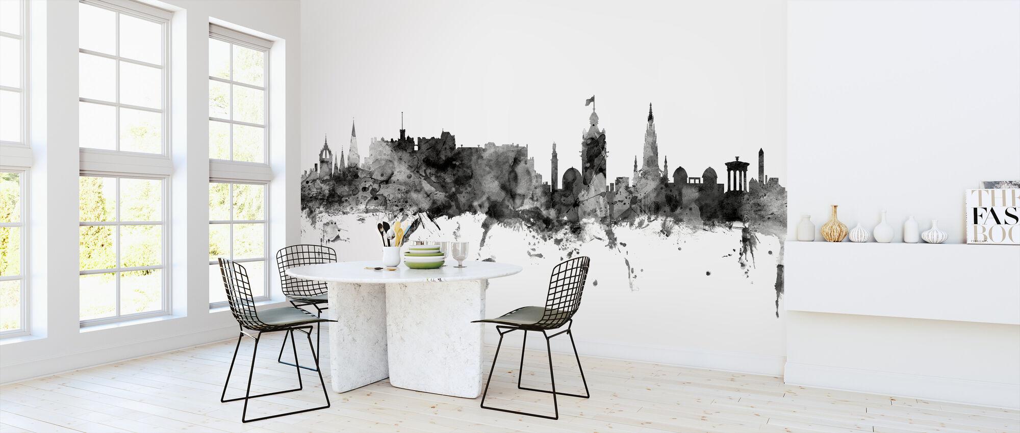 Edinburgh Scotland Skyline Black - Wallpaper - Kitchen