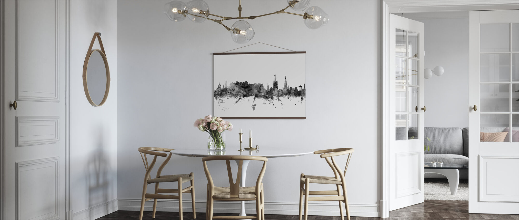 Edinburgh Scotland Skyline Black - Poster - Kitchen