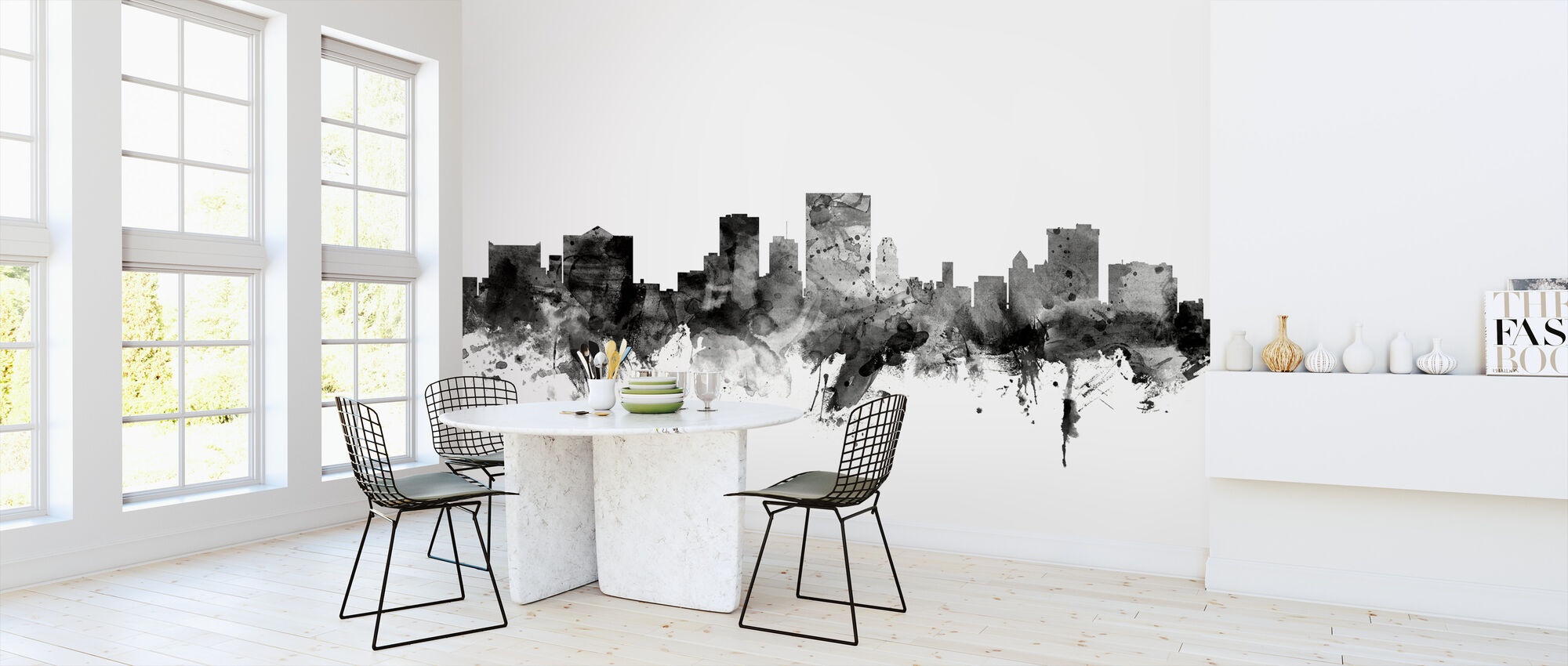 El Paso Texas Skyline Black - Wallpaper - Kitchen