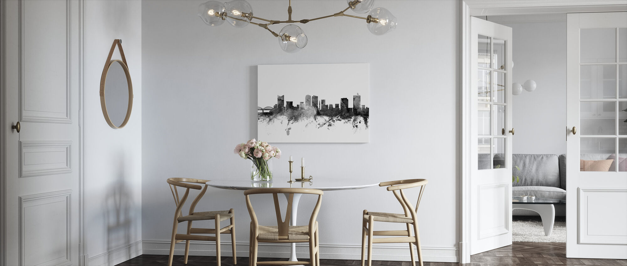 Fort Worth Texas Skyline Black - Canvas print - Kitchen