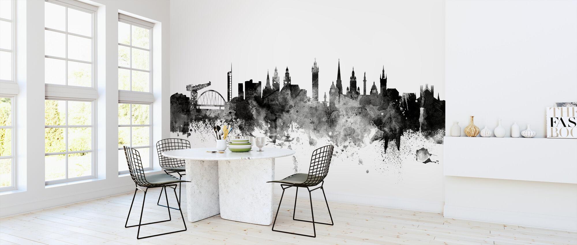 Glasgow Scotland Skyline Black - Wallpaper - Kitchen