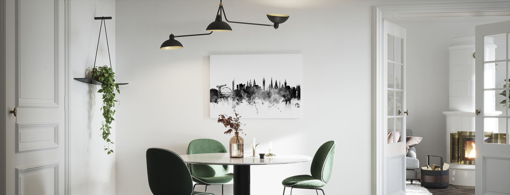 Glasgow Scotland Skyline Black - Canvas print - Kitchen