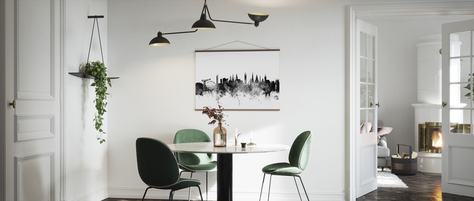 Glasgow Scotland Skyline Black - Poster - Kitchen