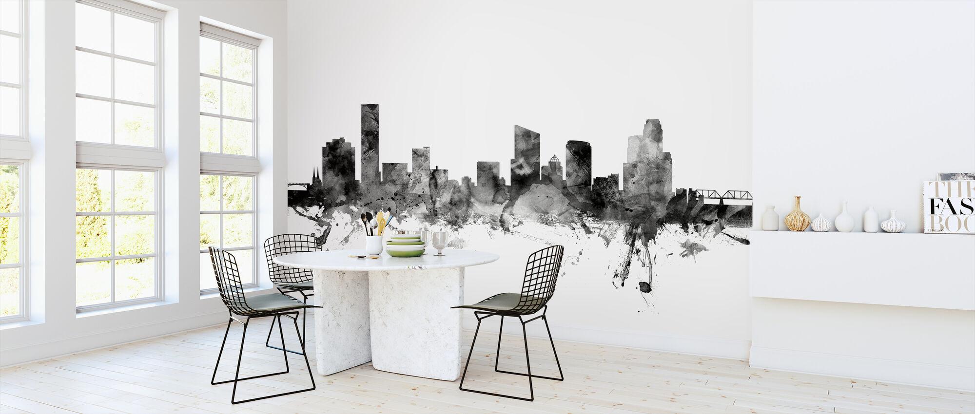 Grand Rapids Michigan Skyline Black - Wallpaper - Kitchen