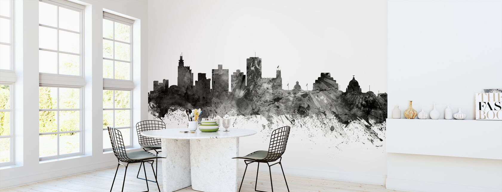 Jackson Mississippi Skyline Black - Wallpaper - Kitchen