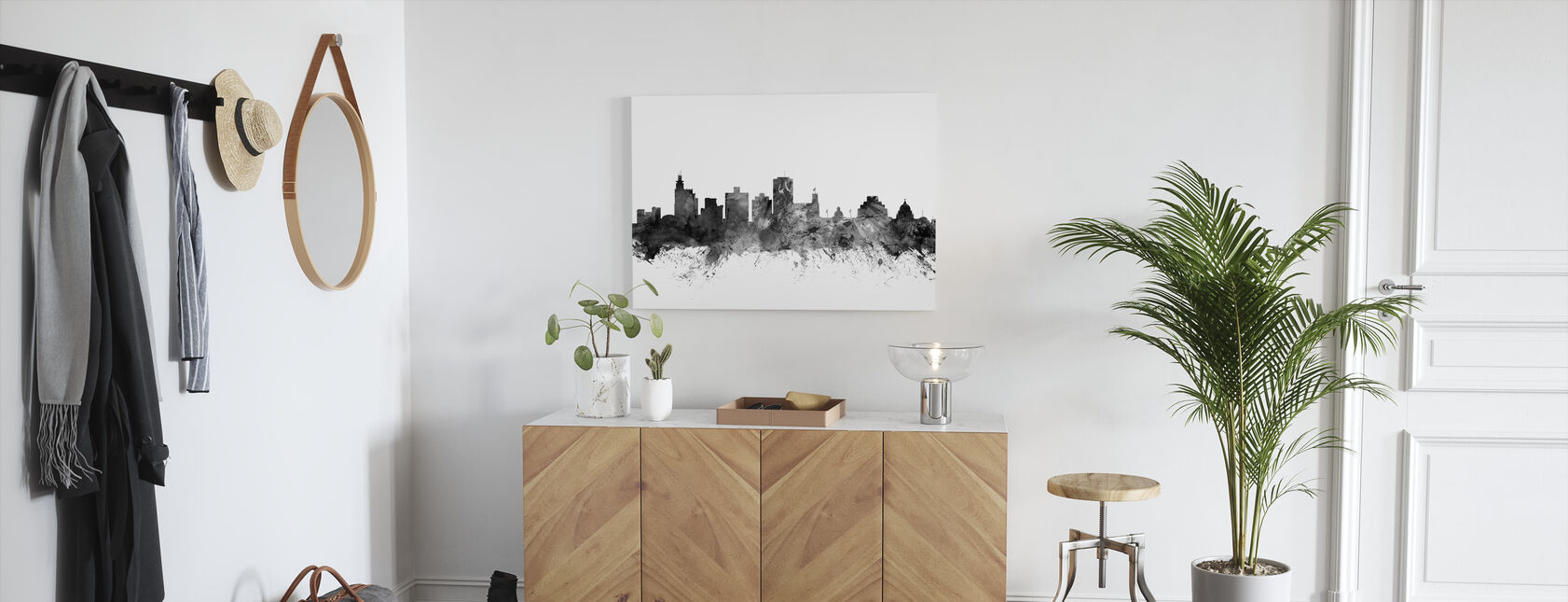 Jackson Mississippi Skyline Zwart - Canvas print - Gang