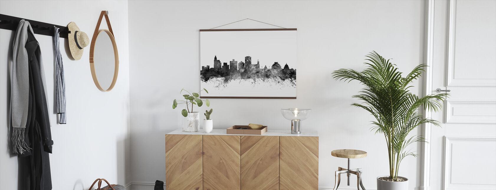 Jackson Mississippi Skyline sort - Plakat - Gang