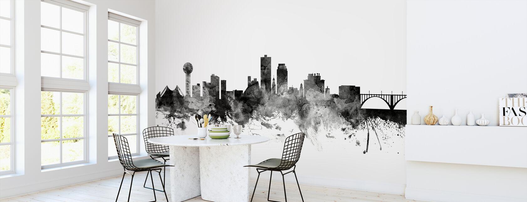 Knoxville Tennessee Skyline Black - Wallpaper - Kitchen