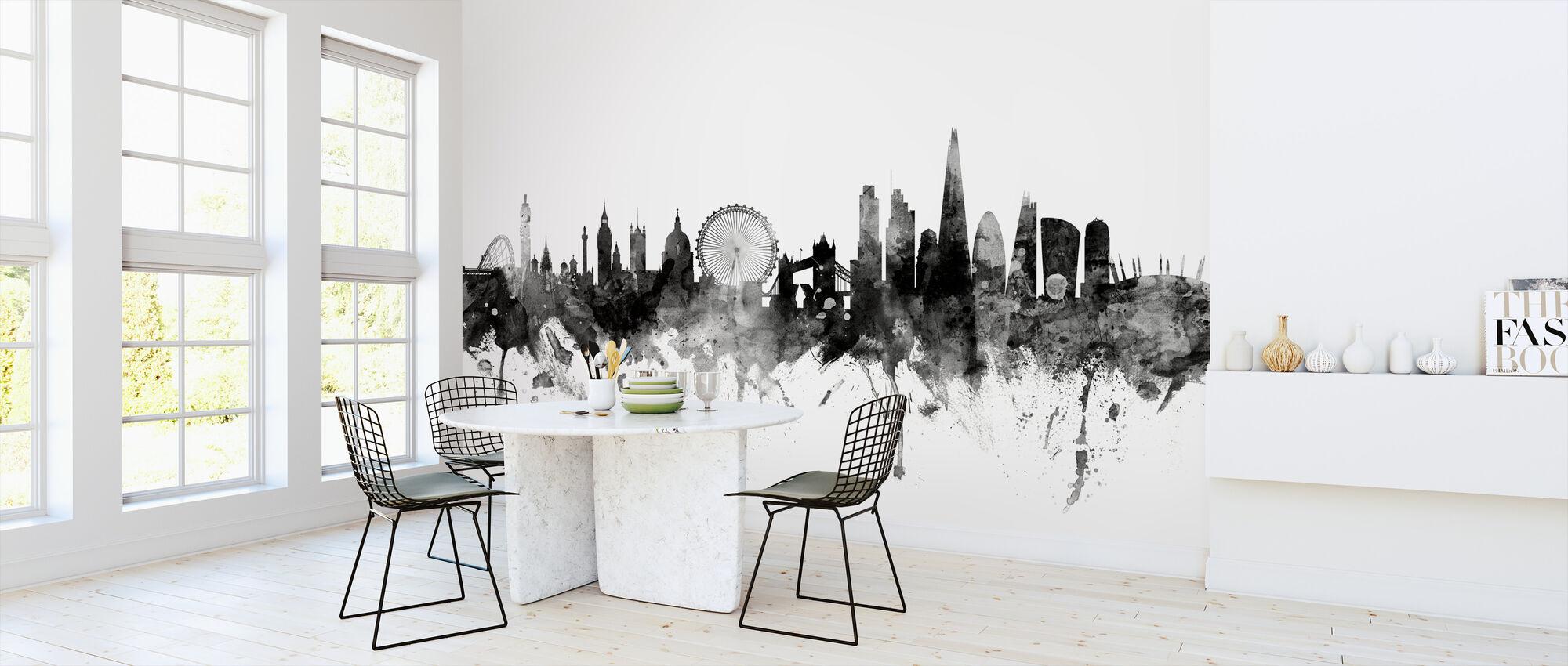 London UK Skyline Black - Wallpaper - Kitchen