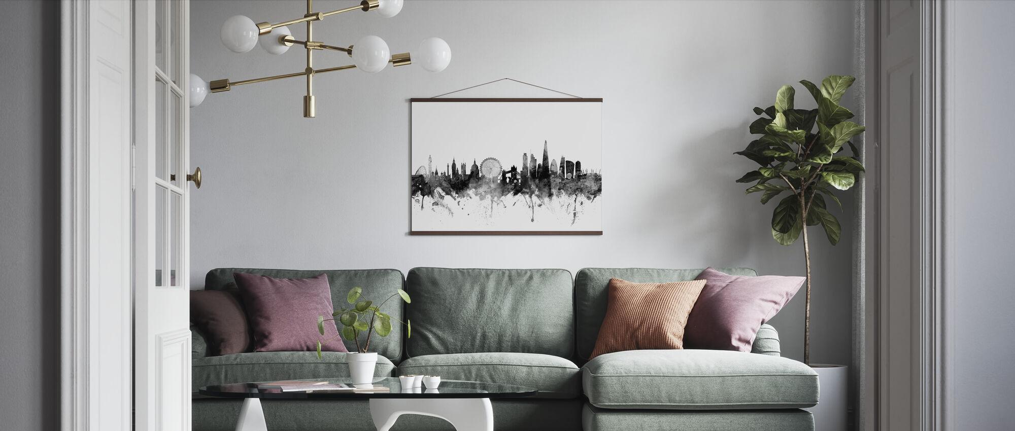 London UK Skyline svart - Plakat - Stue