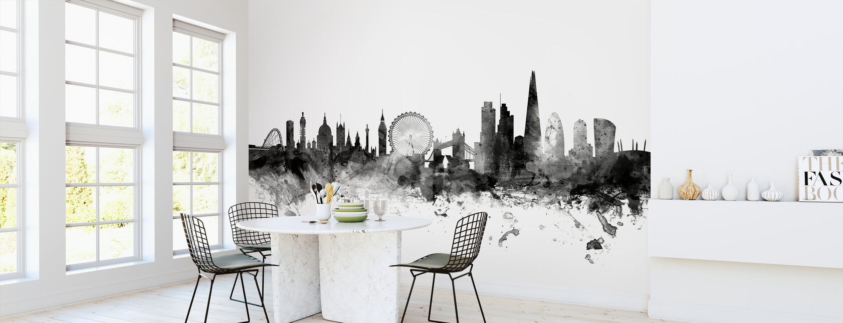London Skyline 2 Black - Wallpaper - Kitchen