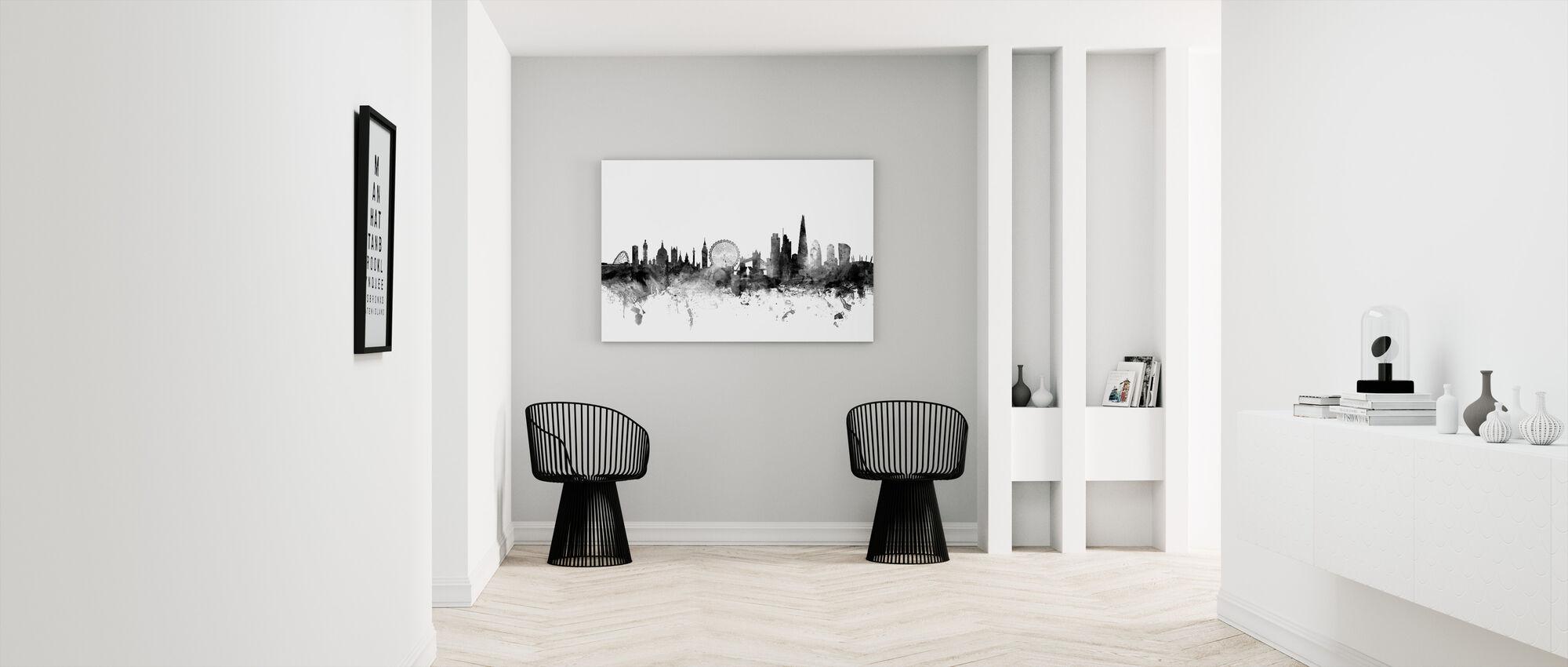 London Skyline 2 Black - Canvas print - Hallway