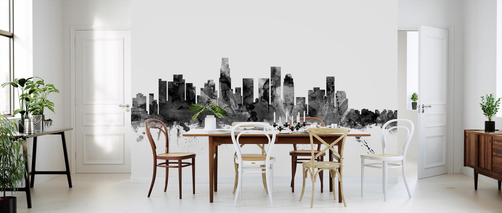 los angeles california skyline black kostenlos gelieferte fototapete von h chster qualit t. Black Bedroom Furniture Sets. Home Design Ideas
