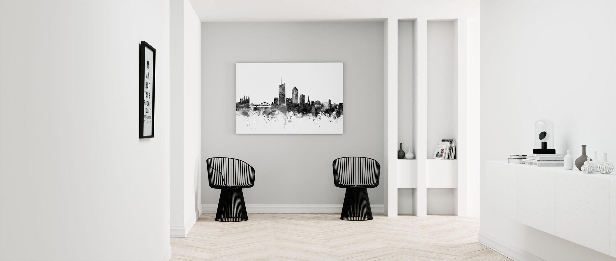 Lyon Skyline Noir - Impression sur toile - Entrée