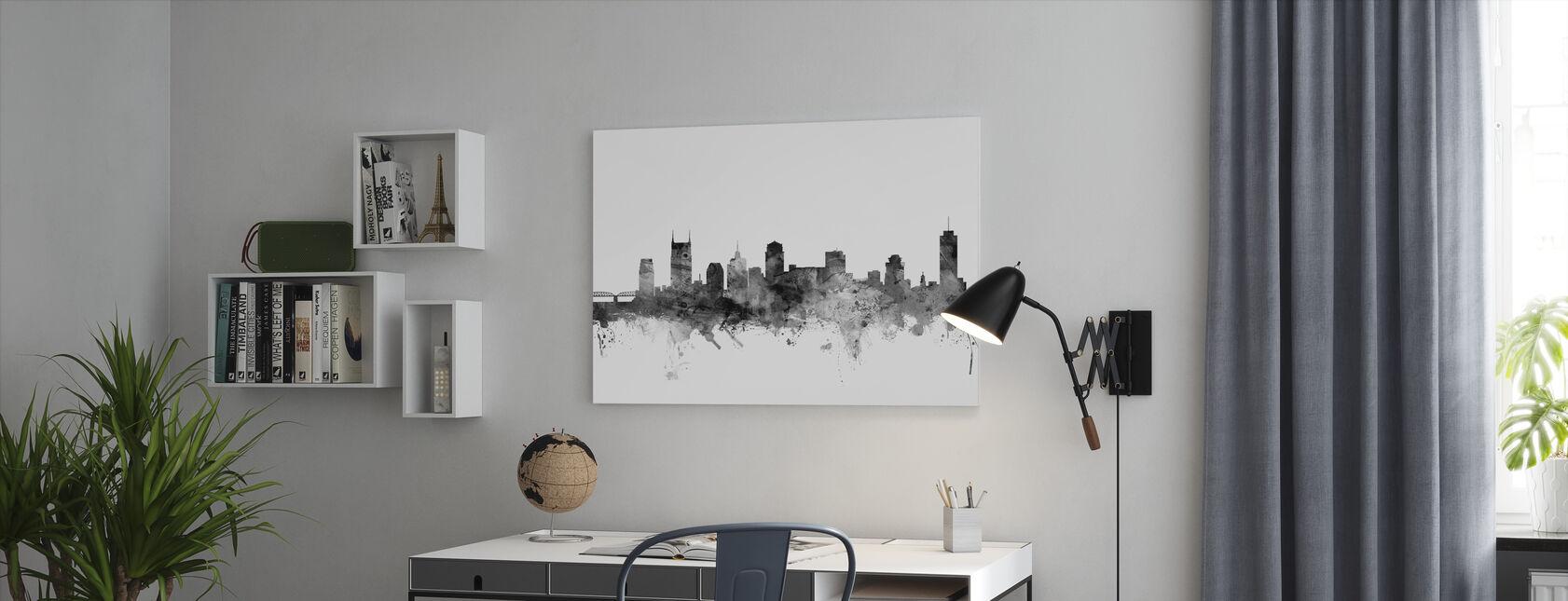 Nashville Tennessee Skyline Black - Canvas print - Office