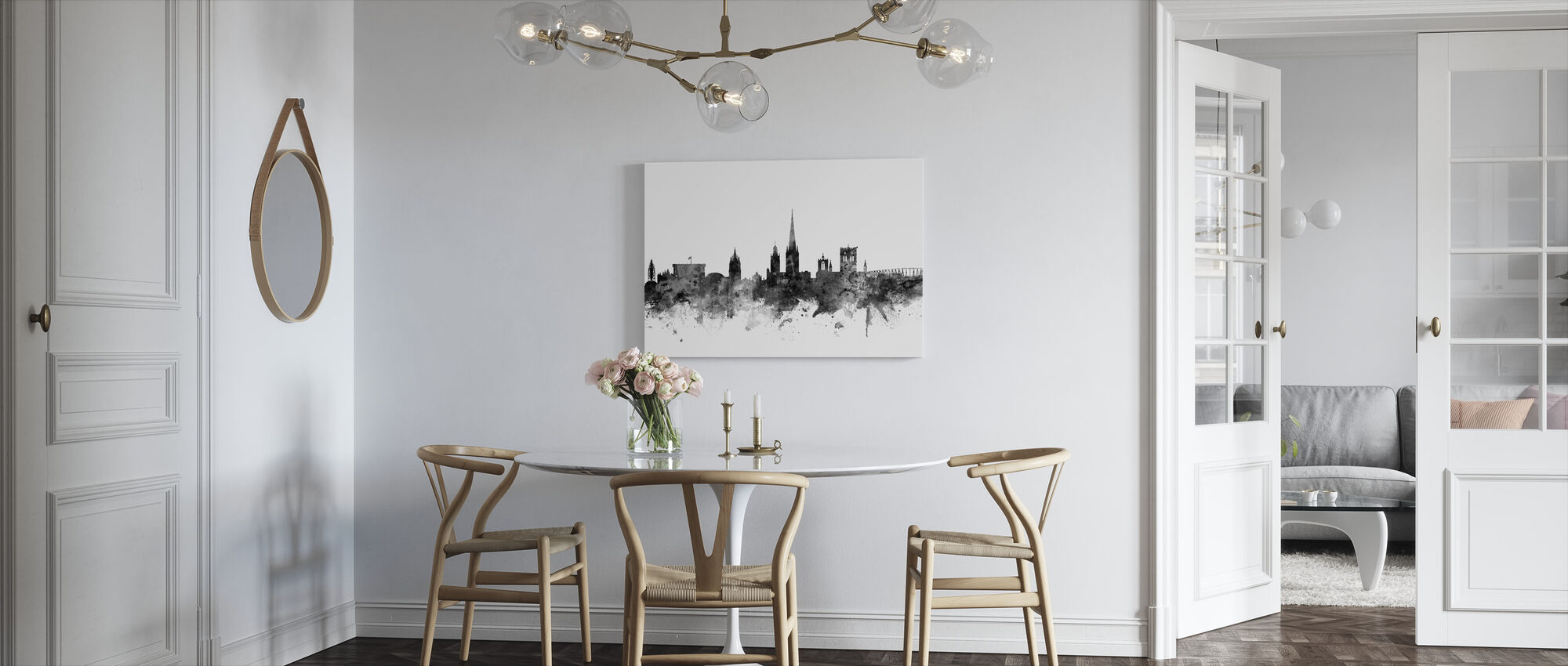 Norwich UK Skyline Black - Canvas print - Kitchen