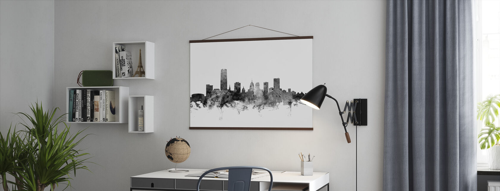 Oklahoma City Skyline Black - Poster - Office