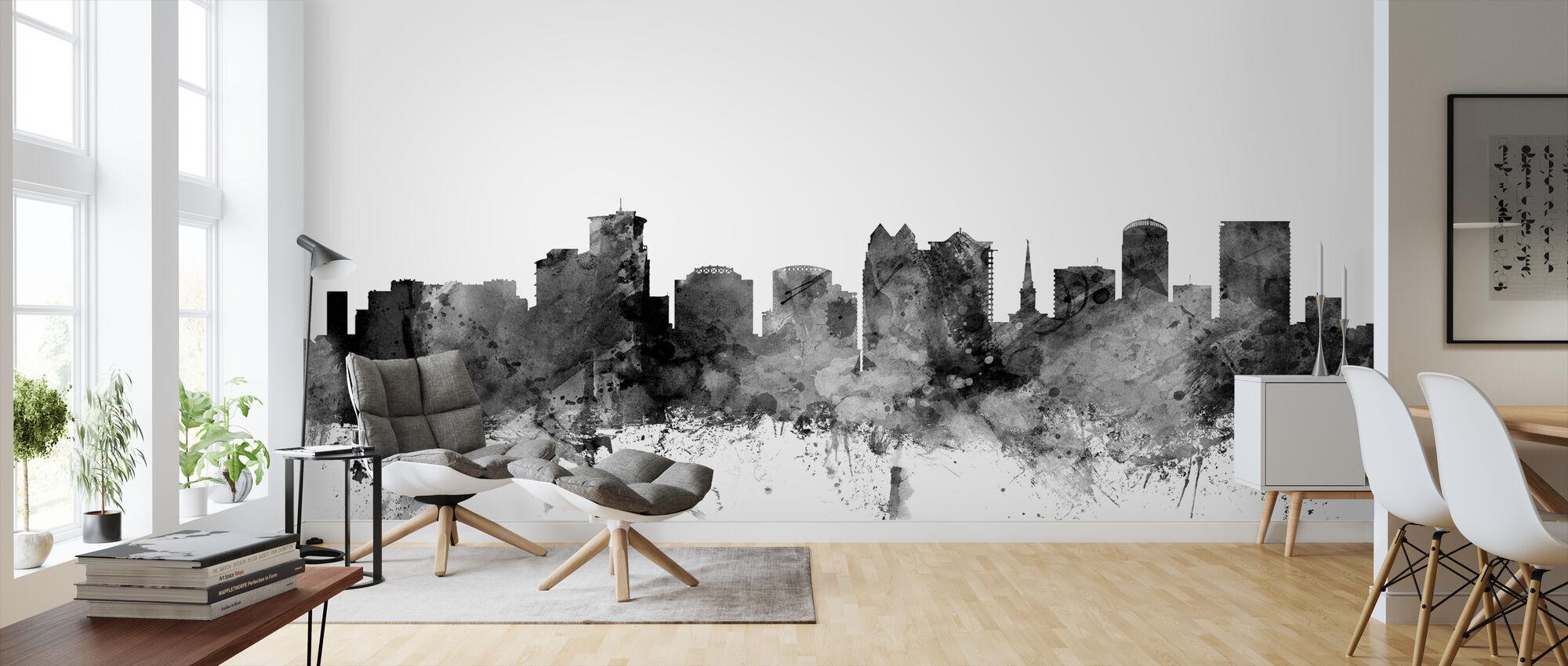Orlando Florida Skyline Black - Wallpaper - Living Room