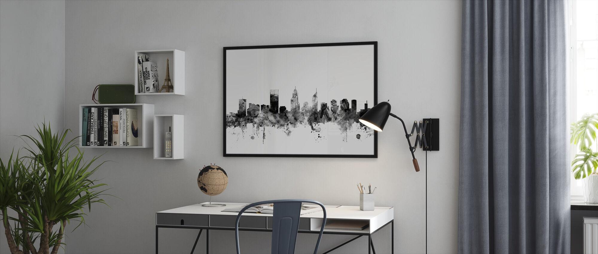 Perth Australia Skyline Black - Framed print - Office