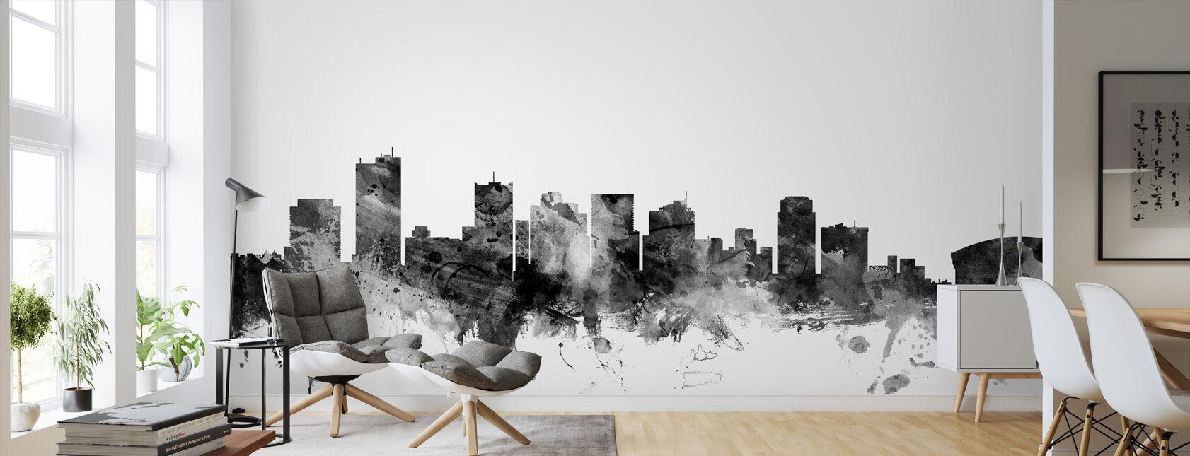 Phoenix Arizona Skyline Black - Wallpaper - Living Room