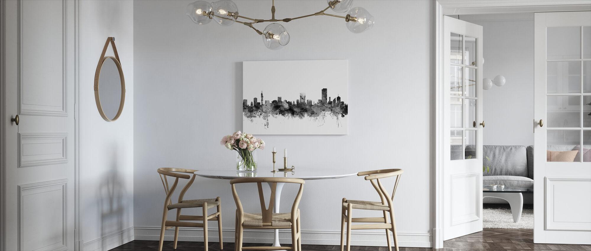 Pretoria South Africa Skyline Black - Canvas print - Kitchen