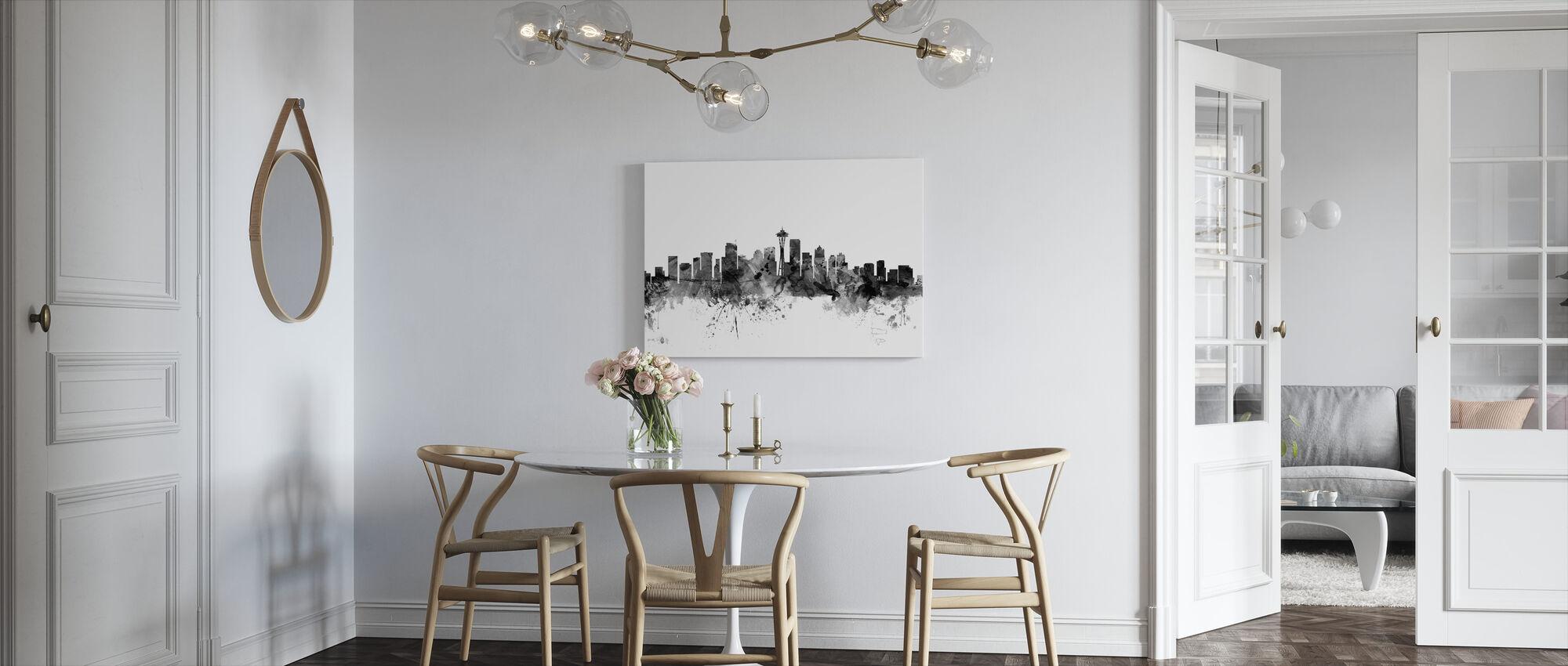 Seattle Skyline Svart - Lerretsbilde - Kjøkken