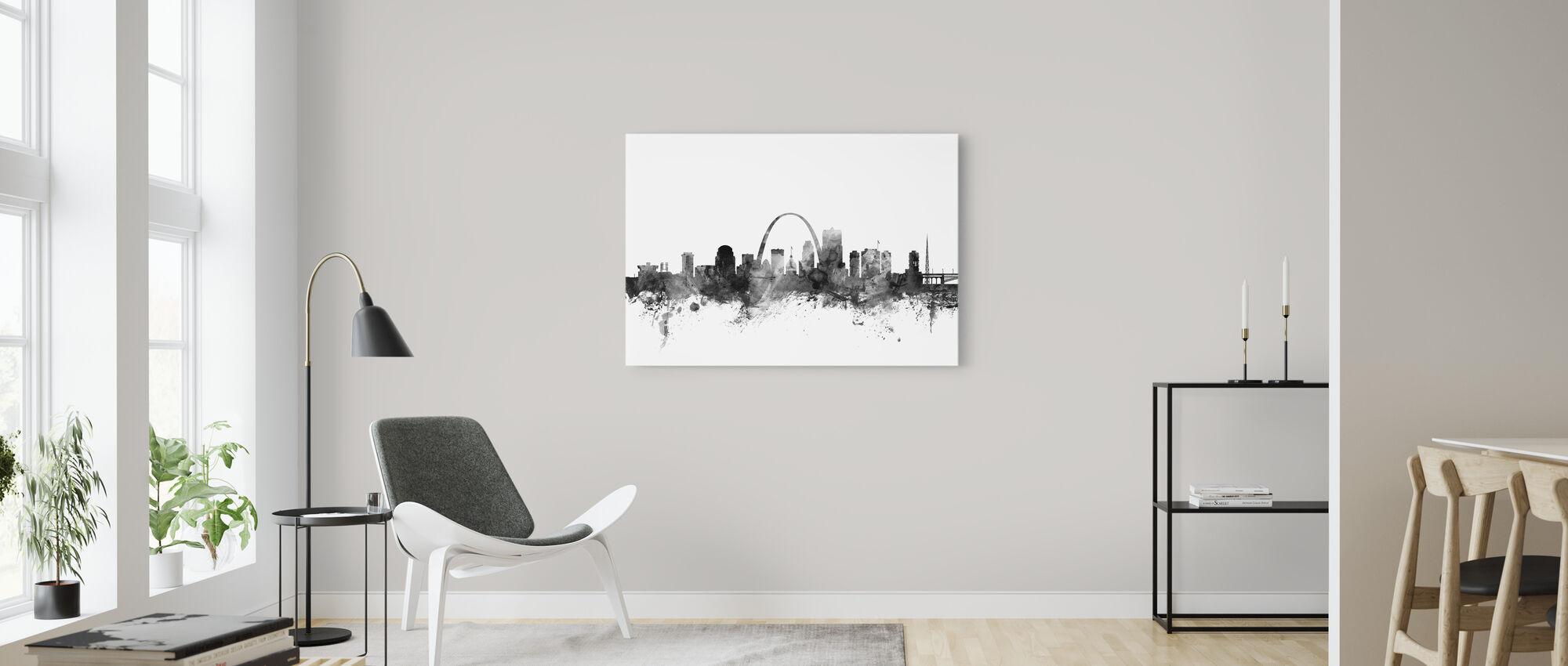 St Louis Missouri Skyline Black - Canvas print - Living Room