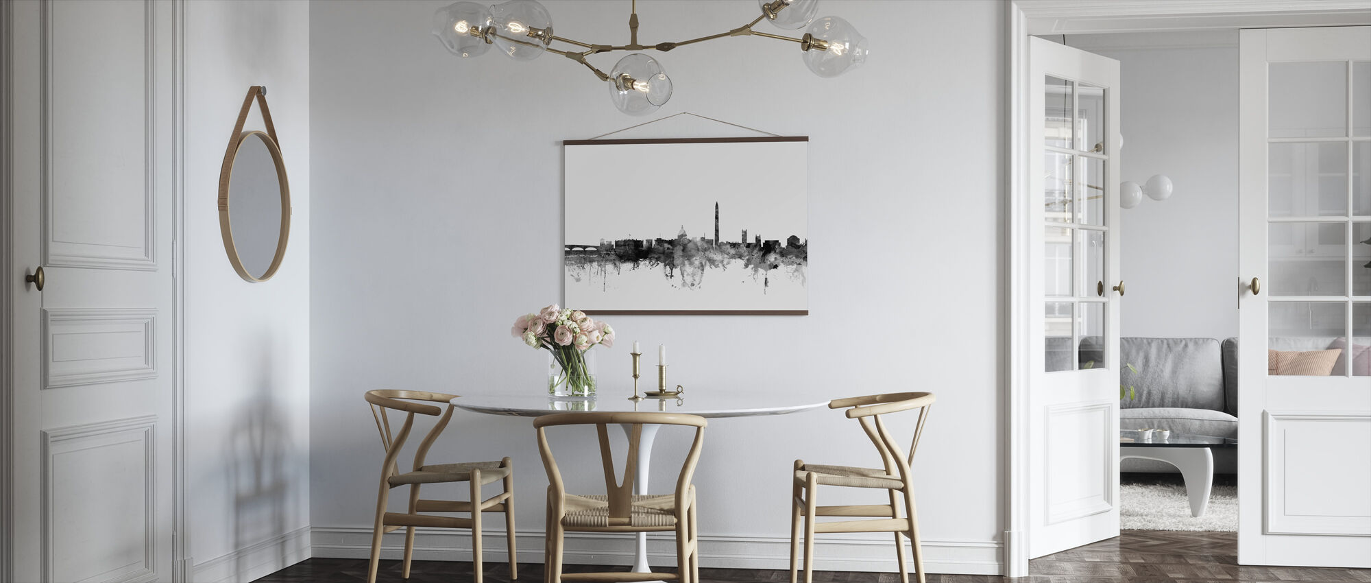 Washington DC Skyline Black - Poster - Kitchen