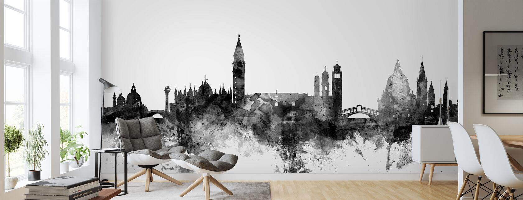 Venice Italy Skyline Black - Wallpaper - Living Room