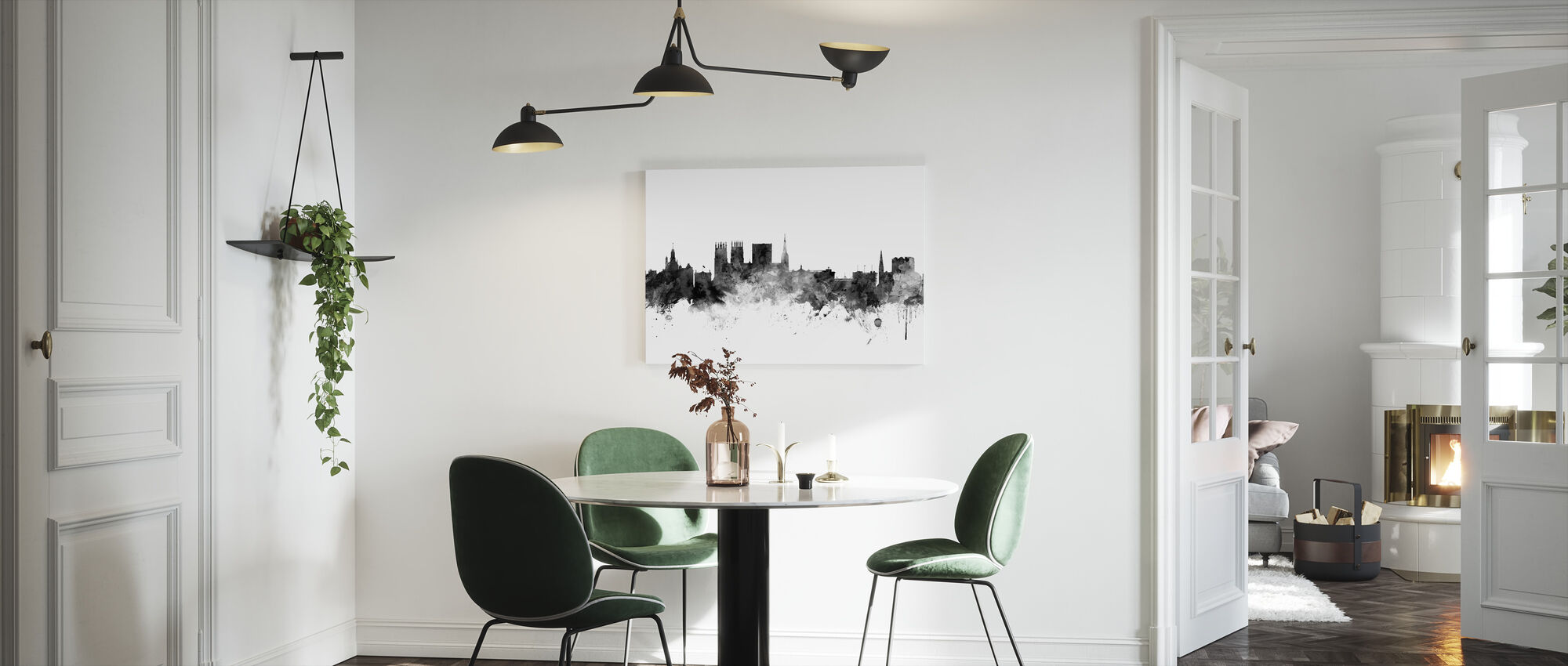 York UK Skyline Black - Canvas print - Kitchen
