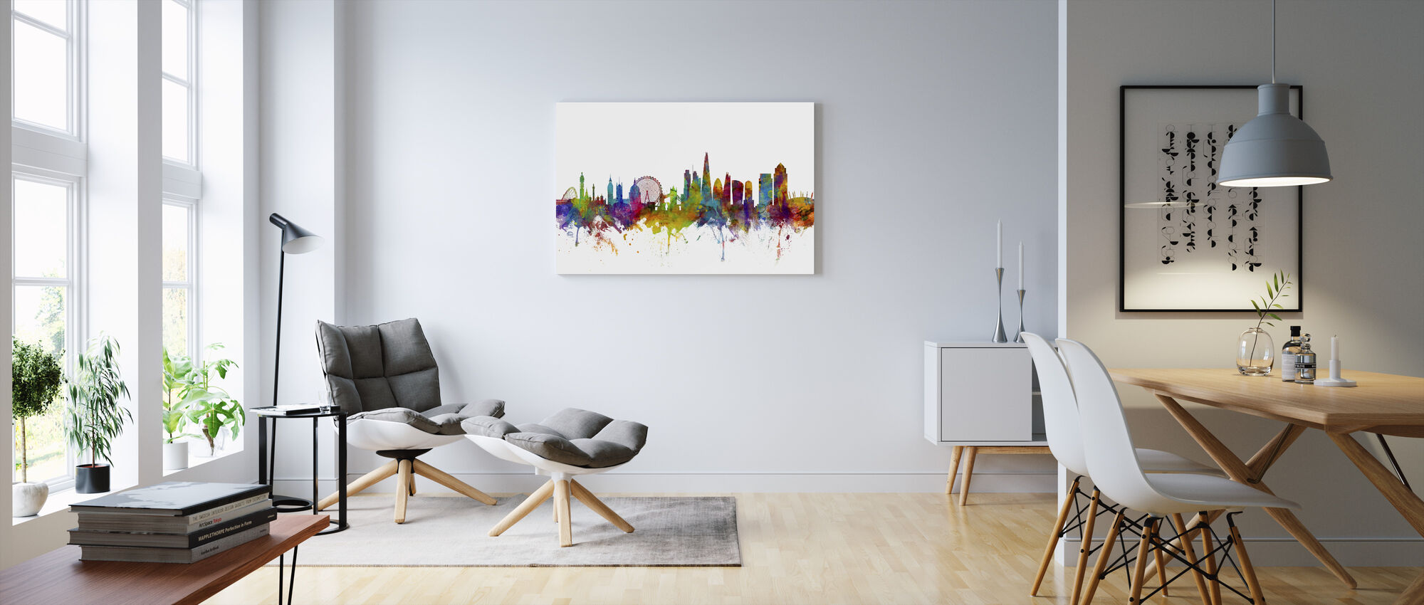 Panorama London Canary Wharf - Obraz na płótnie - Pokój dzienny
