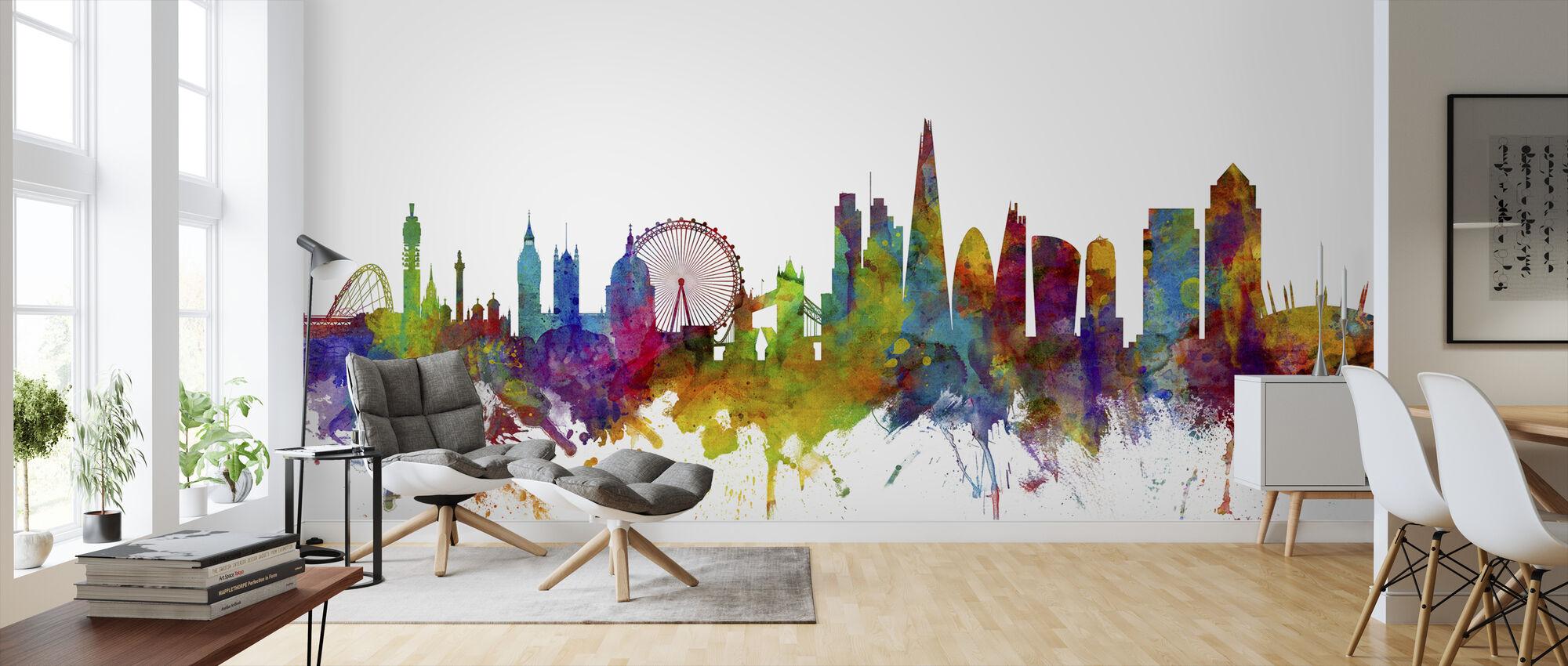 London Canary Wharf skyline - Wallpaper - Living Room
