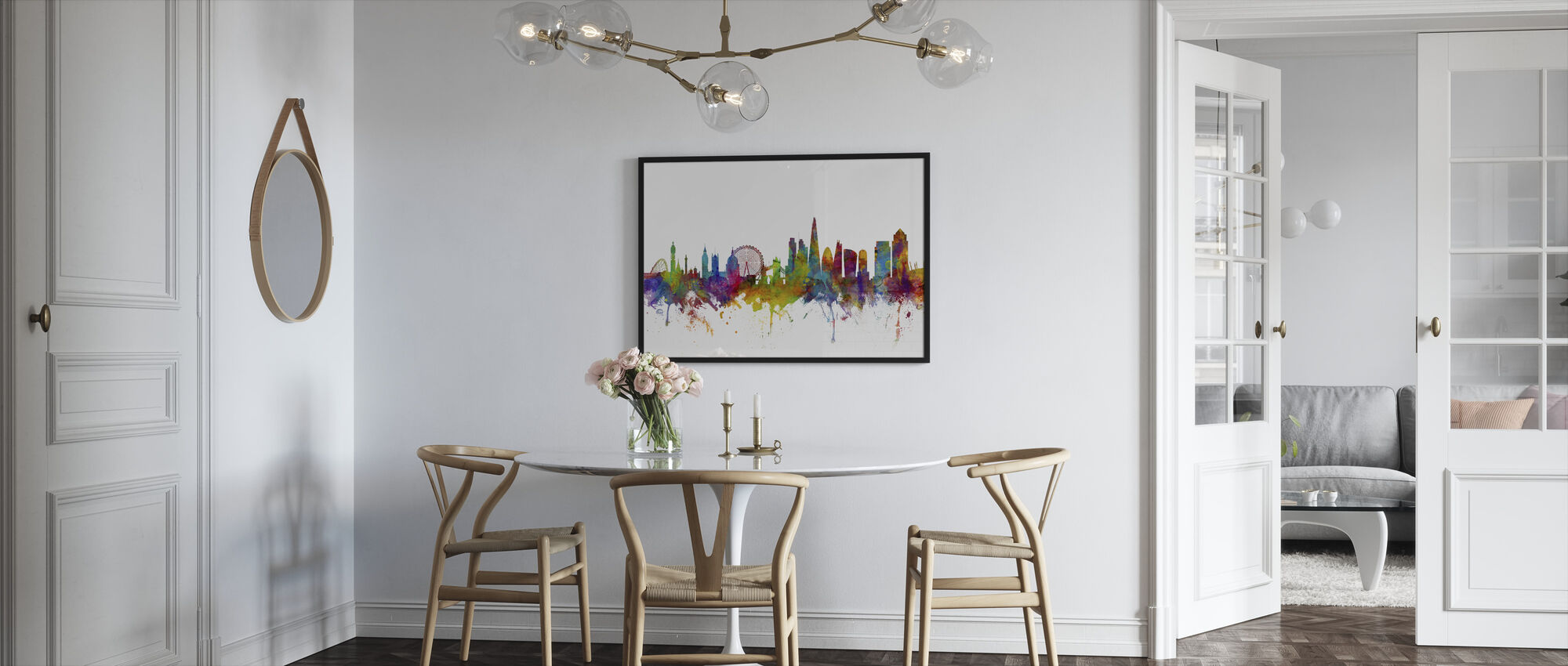 London Canary Wharf skyline - Framed print - Kitchen