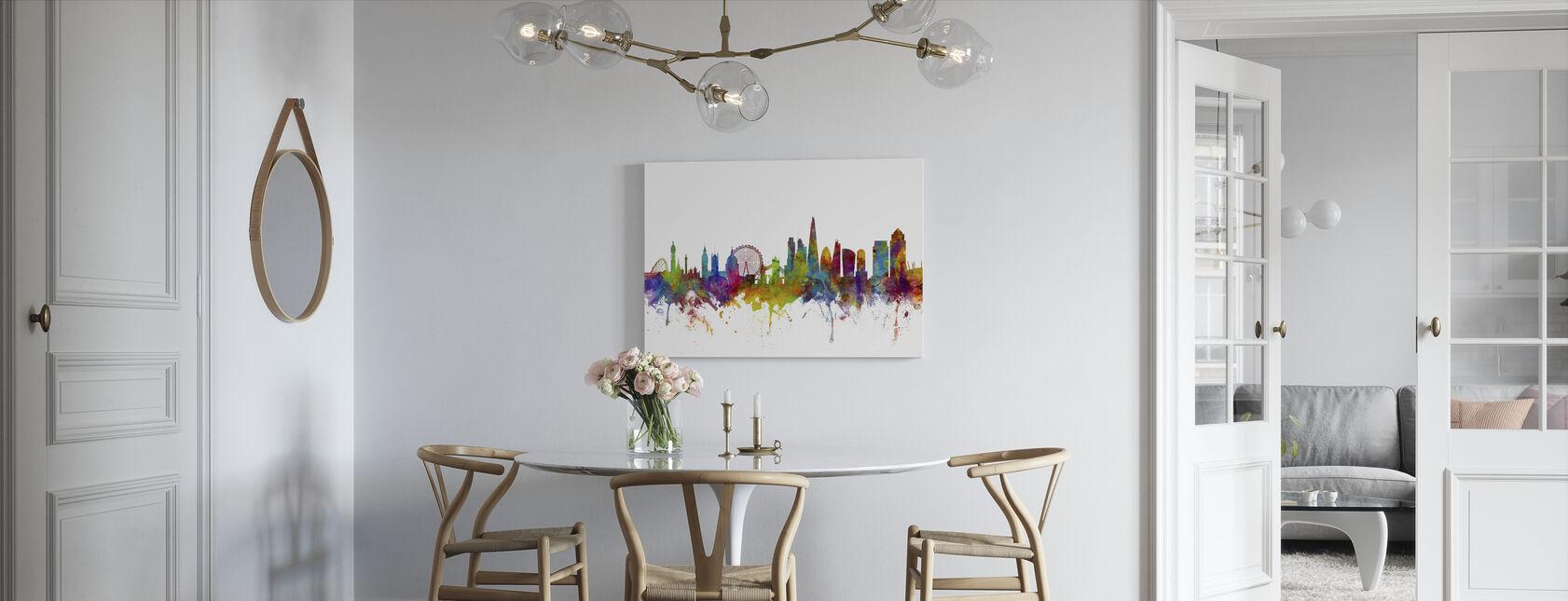 London Canary Wharf skyline - Canvas print - Keuken