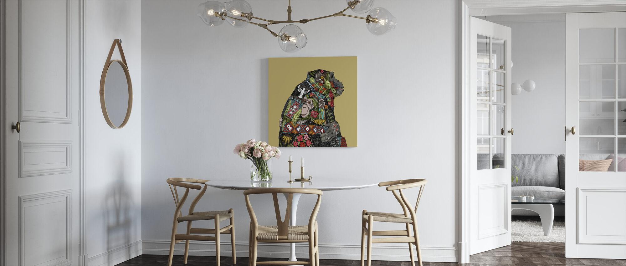 Simpanssi Rakkaus keksi - Canvastaulu - Keittiö