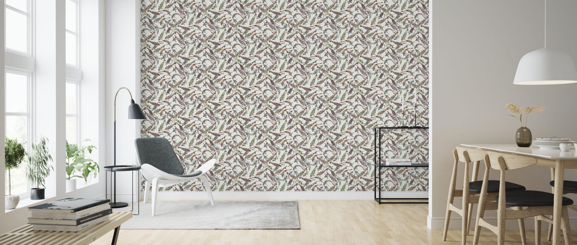 Lucky Koi - Wallpaper - Living Room