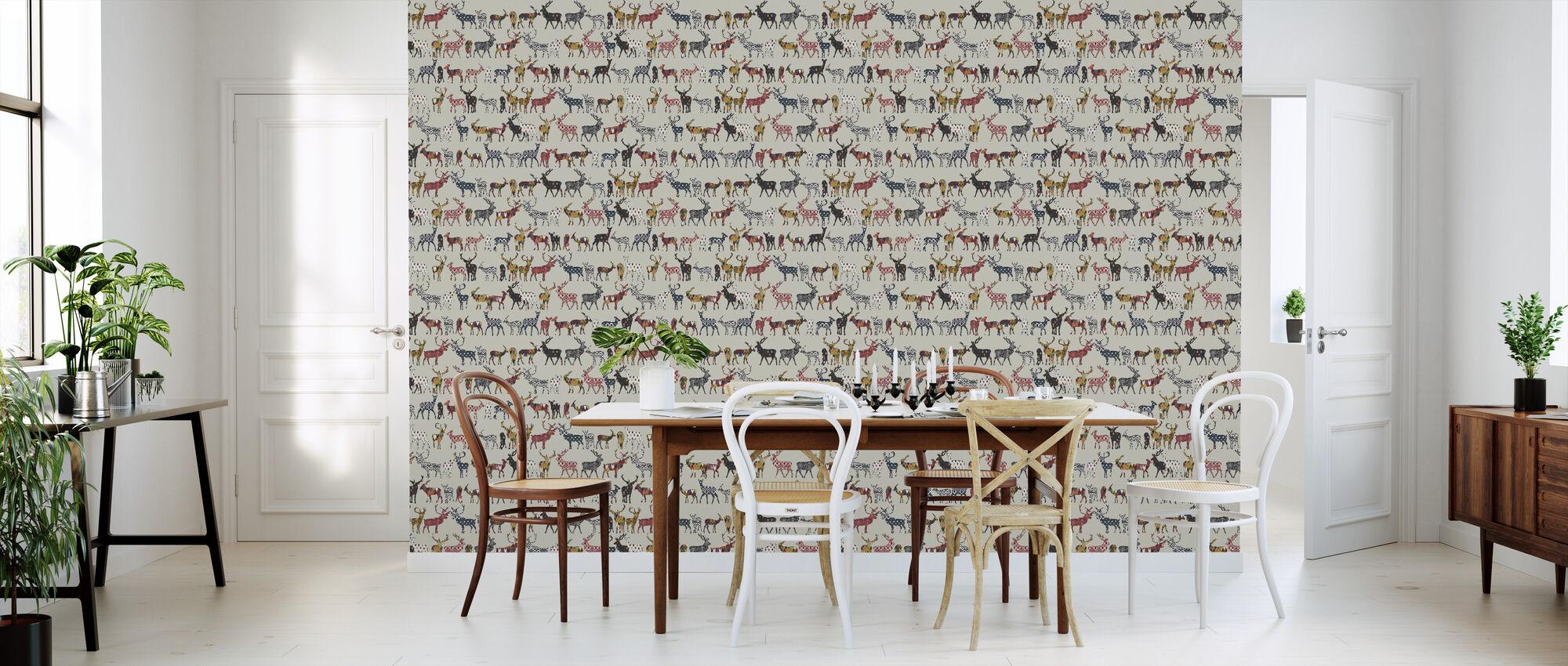 Oatmeal Spice Deer - Wallpaper - Kitchen