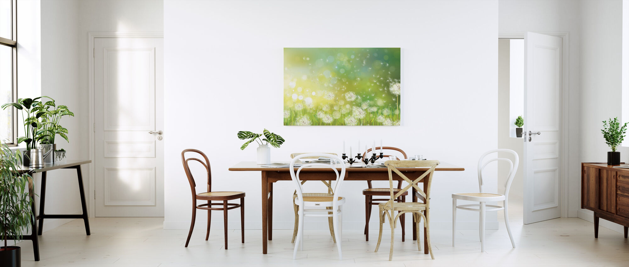 Dandelion Spring Morning - Canvas print - Kitchen