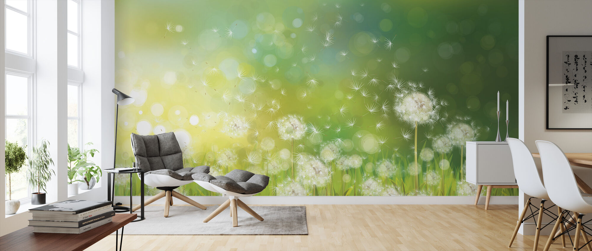 Dandelion Spring Morning - Wallpaper - Living Room